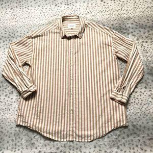 Sezane Edouard Shirt Size 40 Button Up Striped